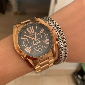 Rose Gold and Black Michael Kors watch
